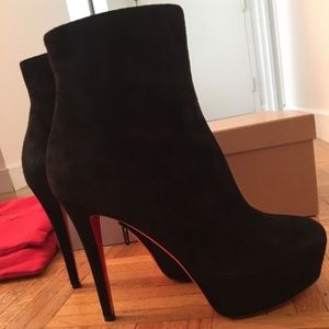 Christian Louboutin Bianca Bootie Sz 37 New in Box